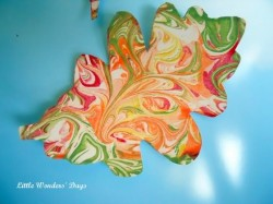 Swirled Shaving Cream Leaves
