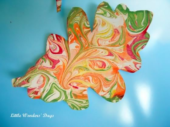 Swirled Shaving Cream Leaves