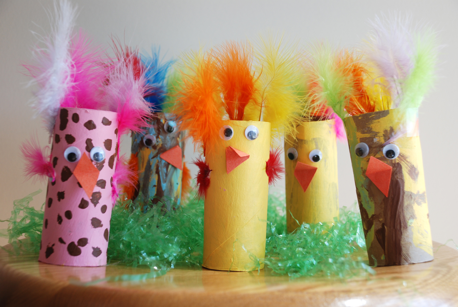 Cardboard Tube Chicks