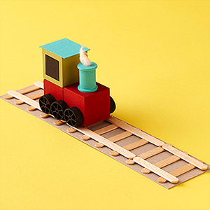 train with tracks fun family crafts. Black Bedroom Furniture Sets. Home Design Ideas