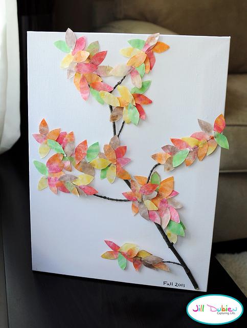 Watercolor Fall Tree