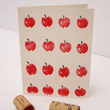 Wine Cork Stamped Rosh HaShana Card