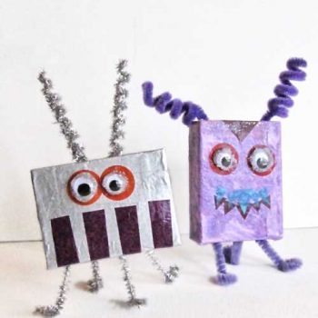Alien and Monster Cardboard Box Crafts
