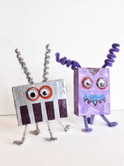 Alien & Monster Cardboard Box Crafts