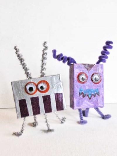 Alien & Monster Cardboard Box Crafts