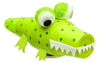Clay Pot Alligator