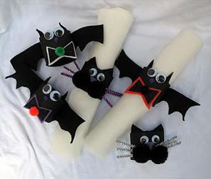 Bat Halloween Napkin Rings