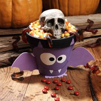 Halloween Batty Treat Pot