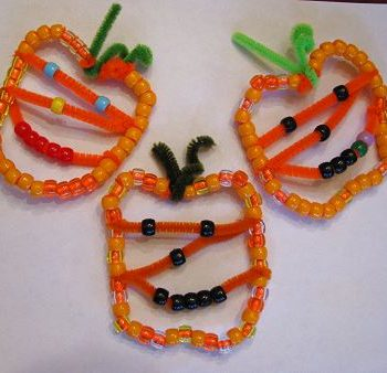 Beaded Pumpkin Jack-o-lantern Ornaments
