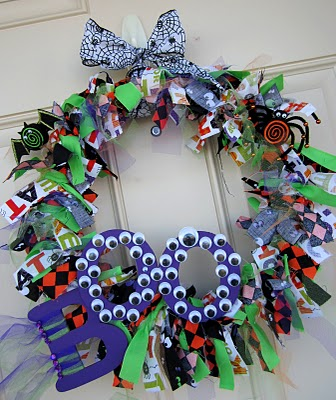 Boo Rag Wreath