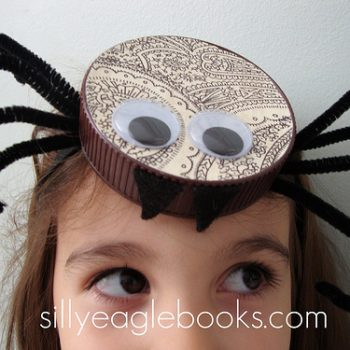 Bottle Cap Spider Halloween Headband