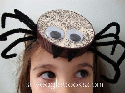 Bottle Cap Spider Halloween Headband