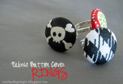 Fabric Button Cover Rings