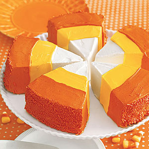 Candy Corn Cake Wedges