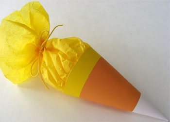 Candy Corn Cone Favors