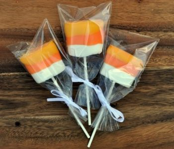 Candy Corn Dipped Marshmallow Pop Treats