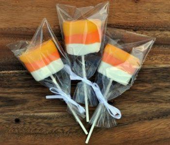 Candy Corn Dipped Marshmallow Pop Treats