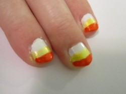 Candy Corn Nail Painting