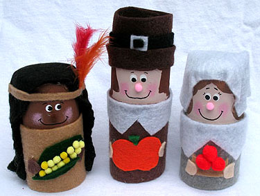 Cardboard Tube Pilgrims and Indians