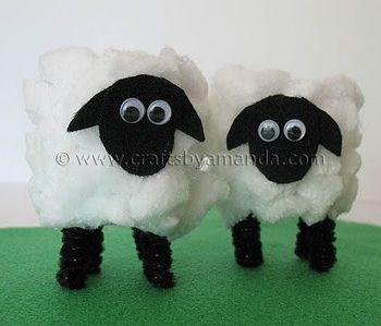 Cardboard Tube Lamb
