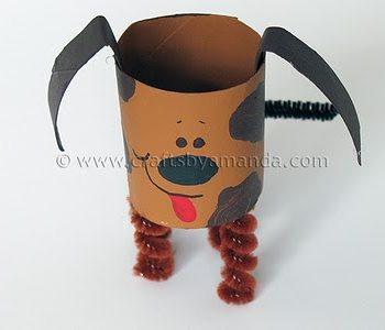 Cardboard Tube Dog