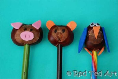 Chestnut Pencil Toppers