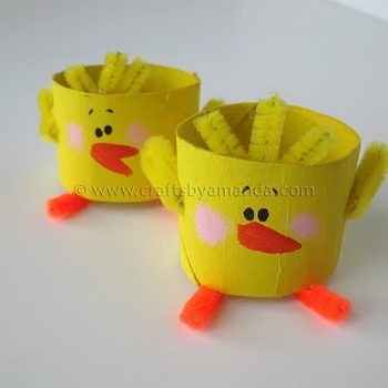 Cardboard Tube Chicks