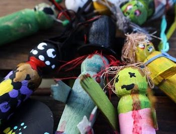 Halloween Clothespin Zombies