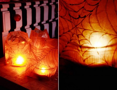 Waxed Paper Bags on These Waxed Paper Bag Luminaries Are So Easy And Perfect For Setting
