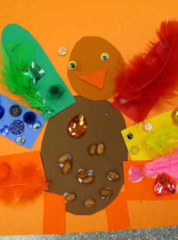Thanksgiving Colorful Art Turkeys