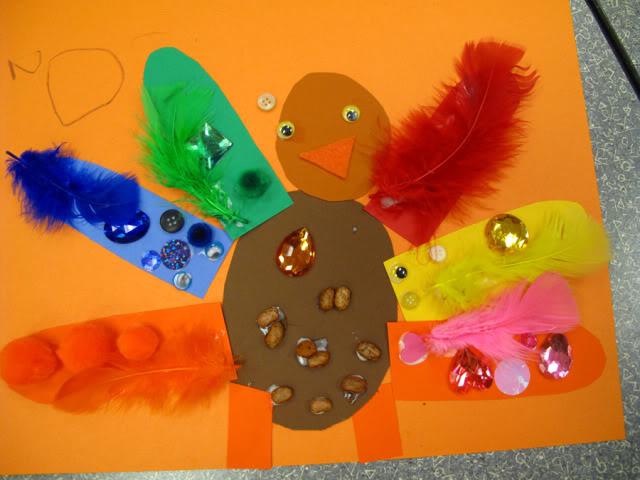 Thanksgiving Colorful Art Turkeys Fun Family Crafts