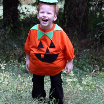 Easy Pumpkin T-shirt Costume