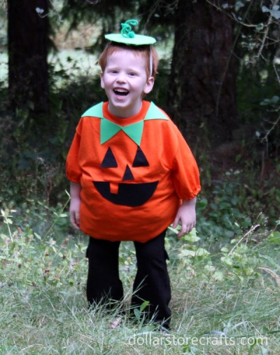 Easy Pumpkin T-shirt Costume