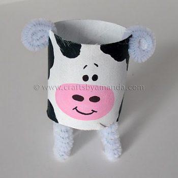 Cardboard Tube Cow