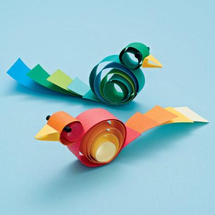Curled Paper Birds