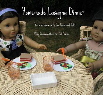 American Girl Doll Lasagna Dinner Set