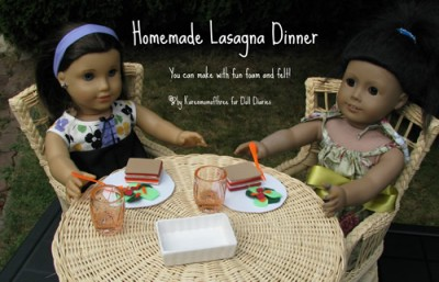 American Girl Doll Lasagna Dinner Set