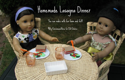 American Girl Doll Lasagna Dinner Set Fun Family Crafts