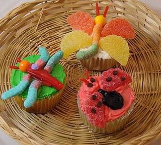 Spring Bug Cupcakes