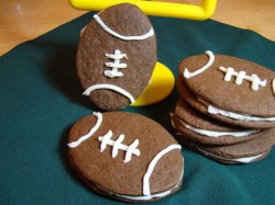 Football Sandwich Cookies