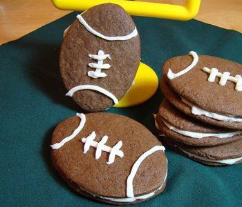 Football Sandwich Cookies