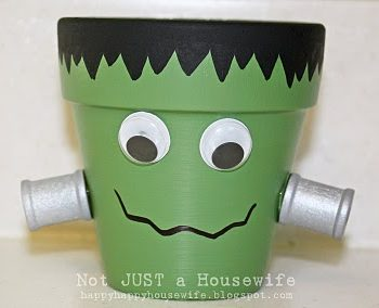 Frankenstein Clay Pot Candle Holders