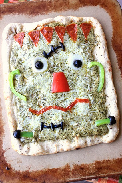 Frankenstein Pesto Pizza