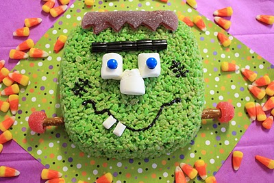 Frankenstein Rice Krispies Treat
