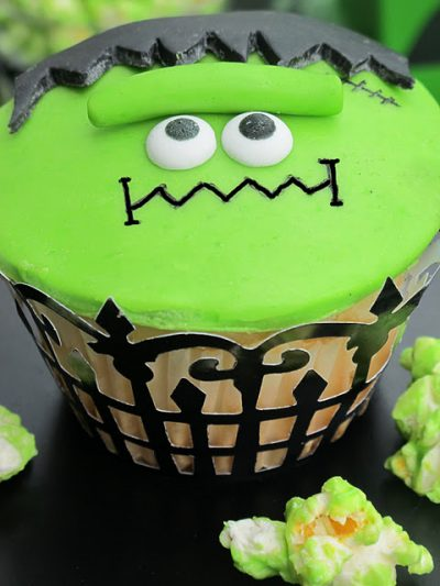 Frankenstein Halloween Cupcakes Fun Family Crafts