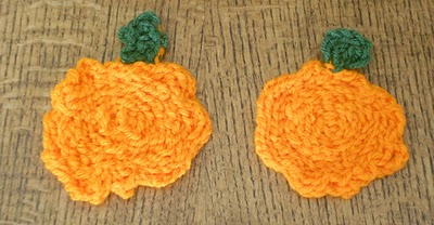 Finger Knit Pumpkins