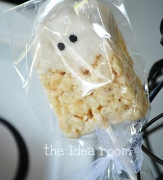 Ghost Rice Krispies Bars