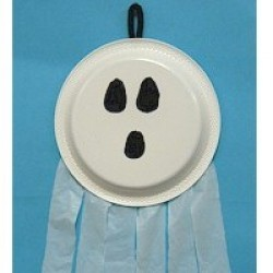Paper Plate Ghost Windsock
