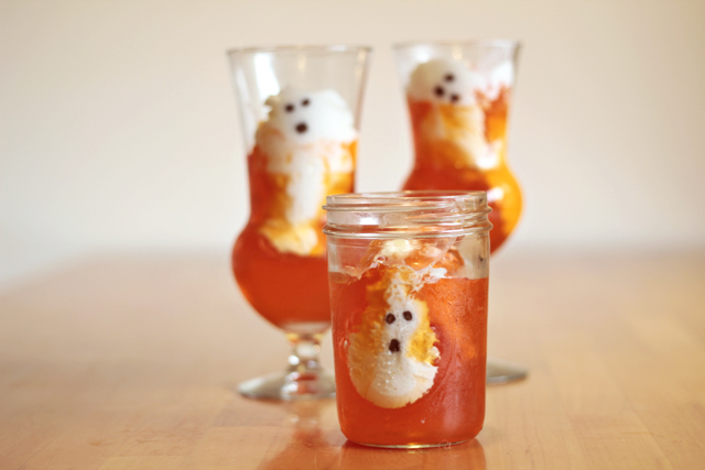 Halloween Ghost Jell-o Treats