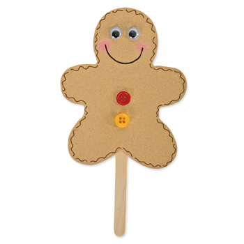 Gingerbread man puppet fun family crafts for Crafts for men to make